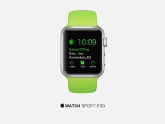 Apple Watch Sport Edition PSD Template