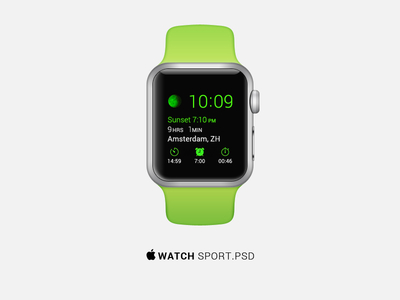 Apple Watch Sport Edition PSD Template