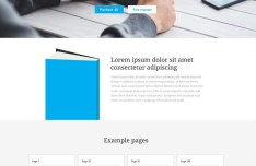 Bookage One Page Website Template (PSD+HTML)