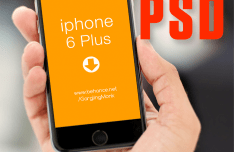 iPhone 6 Plus Held In Hand Mockup PSD