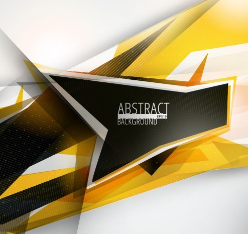 Abstract Black Yellow Geometric Background Vector