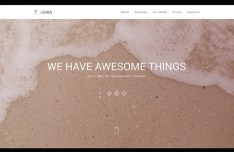 Unika - One Page Website PSD Template