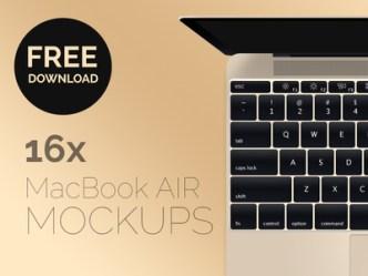 New Macbook Air 2015 Mockup PSD