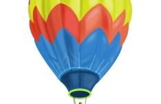 Colorful Hot Air Balloon Vector