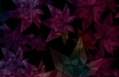 Geometric Maple Leaves Background Vector