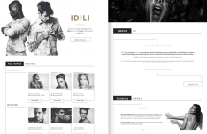 IDILI Landing Page Template PSD