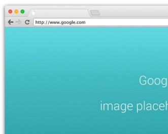 Chrome Browser On OS X Mockup