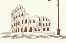 Italy Colosseum Vector Illustration