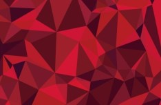 Red Polygon Background Vector