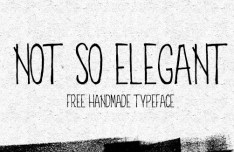 Not So Elegant Handmade Typepface