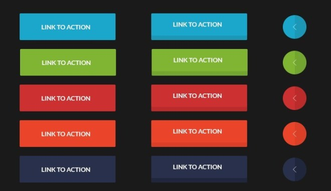 Colorful Flat Buttons UI Kit