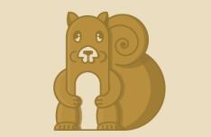 Flat Squirrel Vector