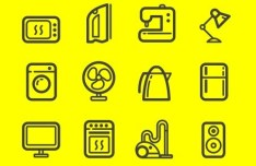 Appliance Icon Set Vector