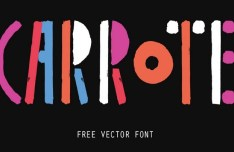 Carrote Vector Font
