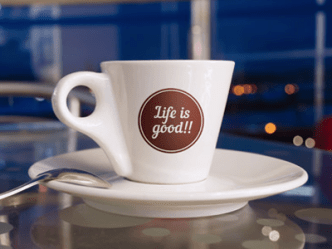 Photography Coffee Cup Mockup PSD