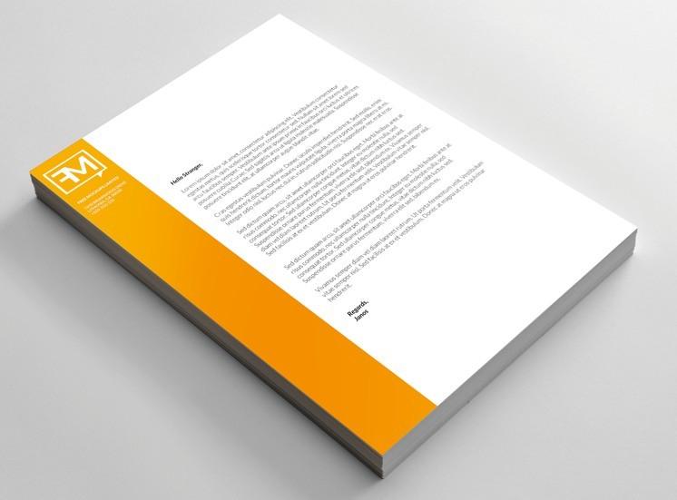 Free Realistic Letterhead Mockup PSD - TitanUI