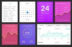 Azure - Stylish Clean UI Kit PSD