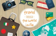Travel Through The World Vector Elements