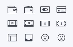 12 Finance Line Icons Sketch
