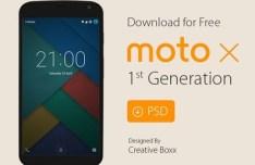 Motorola Moto X (1st Gen.) Template PSD
