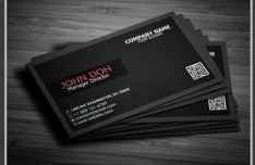 Creative Black Business Card PSD