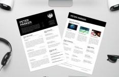 Resume CV With Desktop Elements Mockup PSD