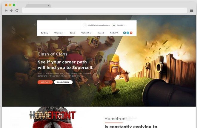 Gaming Landing Page Template PSD