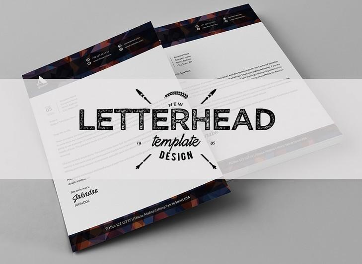 Free Modern Letterhead Template Psd - Titanui