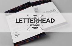 Modern Letterhead Template PSD