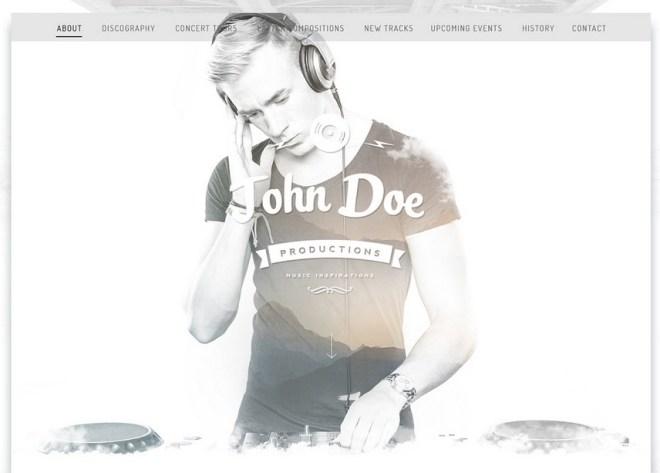 Fashion Musician PSD Web Template