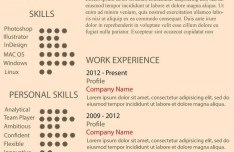 Simple Single Page Resume CV Template PSD