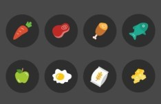 8 Ingredient Icons Vector