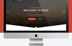 Bino Landing Page Template PSD