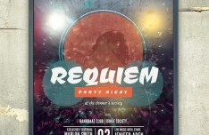 REQUIEM Party Flyer Mockup PSD