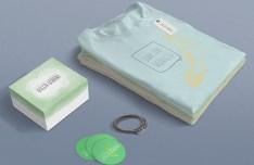 Green Banana Clothes Branding Mockup PSD