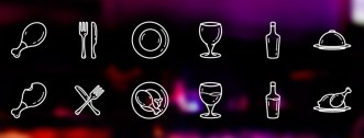 10 Restaurant Icons Vector