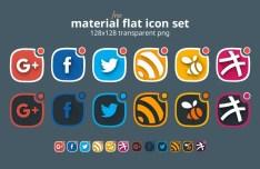 6 Flat Social Media Icons