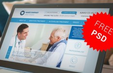 Medical Center Web Template PSD