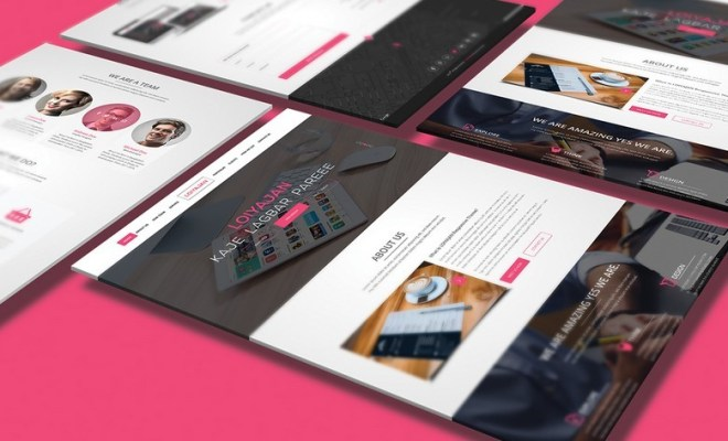 LOIYAJAN One Page Website Template PSD