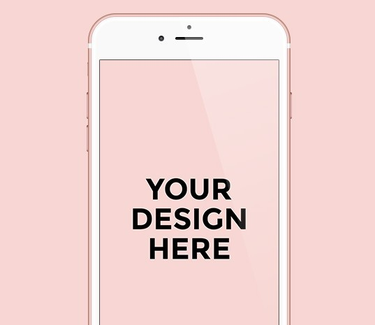 iPhone 6S & 6S Plus Rose Gold Template PSD