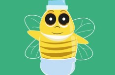 Cartoon Baby Bee Vector