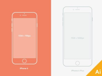 iPhone 6 and 6 Plus Mockups Vector