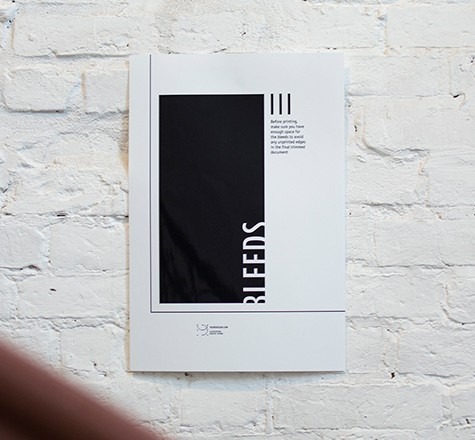 Black and White Wall Poster Mockup PSD