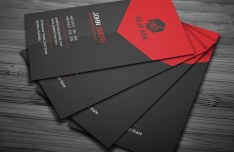 Black and Red Creative Business Card Template PSD