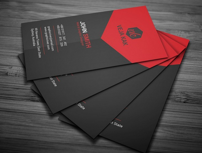 Free black and red creative business card template psd titanui black and red creative business card template psd wajeb Image collections