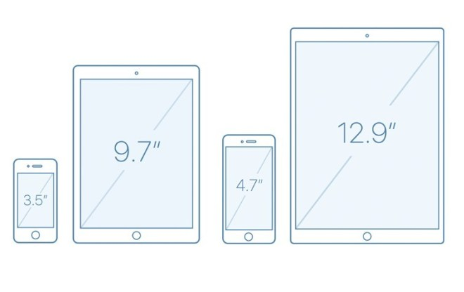 iPhone and iPad Outline Mockups For Sketch