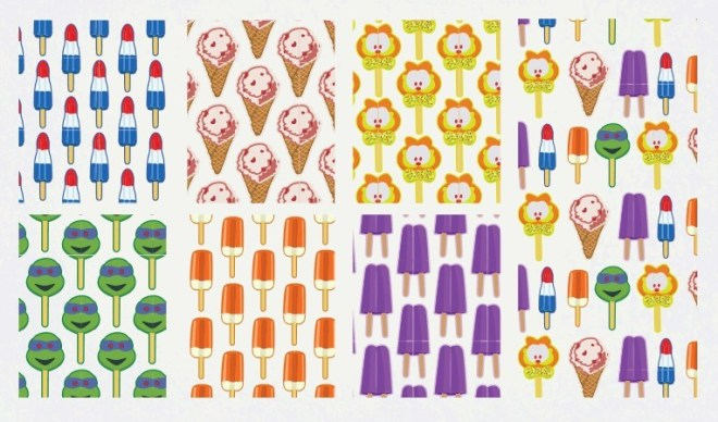Summer Popsicles & Ice Creams Vector