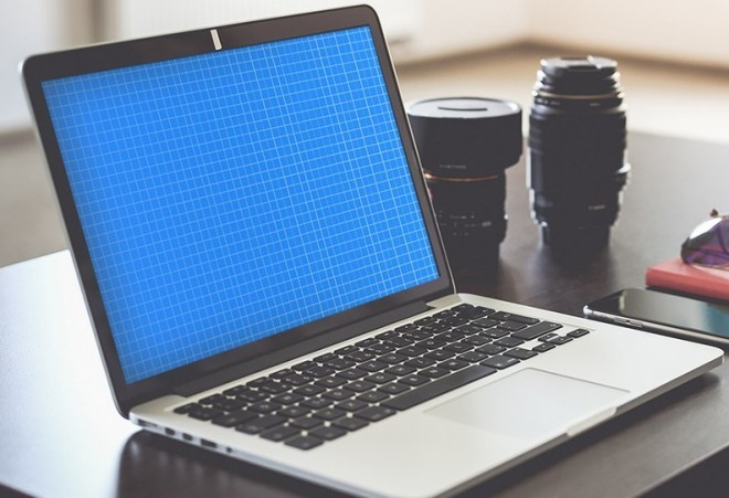 Photo Realistic Macbook Mockup PSD