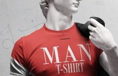David T-shirt Mockup PSD