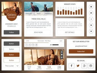 Galaxy Chocolate UI Kit PSD